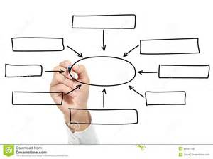 hand drawing an empty diagram royalty free stock photos