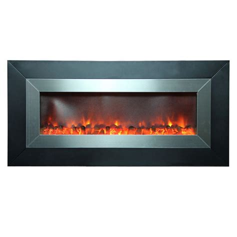Stainless Steel Electric Fireplace by Yosemite Home Decor Aries 53 In Wall Mount Electric