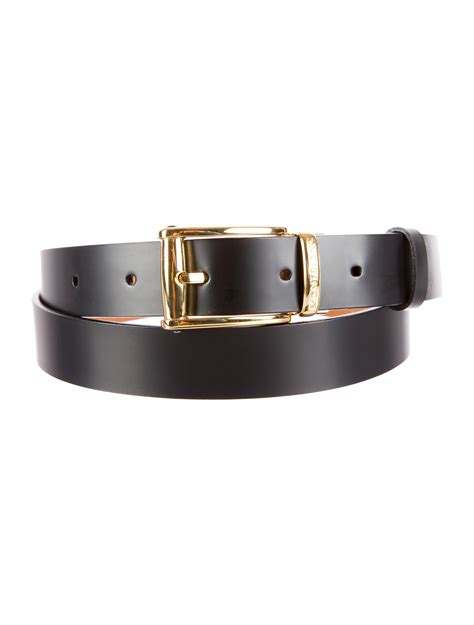Montblanc Leather 1 montblanc leather gold plated belt accessories