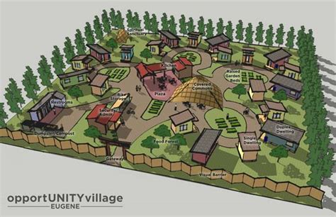 tiny house village design concept opportunity village eugene and the conestoga hut