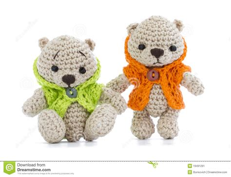 tiny knitted toys tiny knitted toys stock image image 19491291