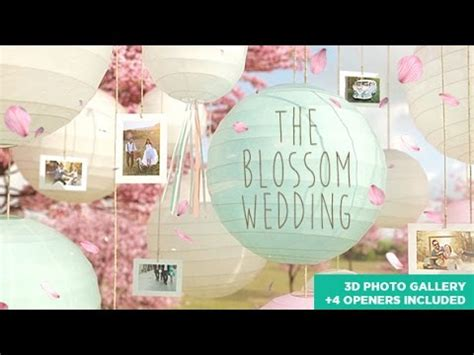 The Blossom Wedding Photo Gallery Slideshow After Effects Template Not Free Youtube Wedding Photo Slideshow Template