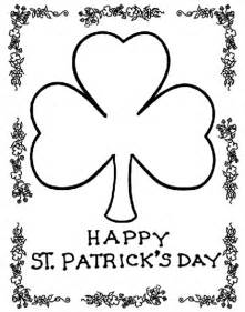 shamrock coloring pages 12 st s day printable coloring pages for adults