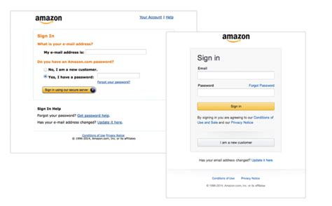 amazon login amazon updates their login screen for the first time in a