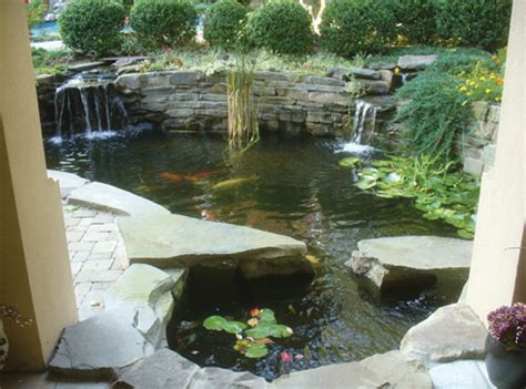 Concrete Home Designs by Pond Construction With Concrete Pond Trade Magazine