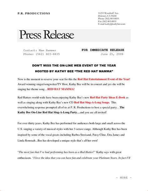 press release templates free awesome template press release gallery entry level