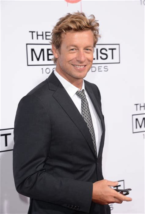 blond hair actor in the mentalist simon baker photos photos cbs celebrates 100 episodes of