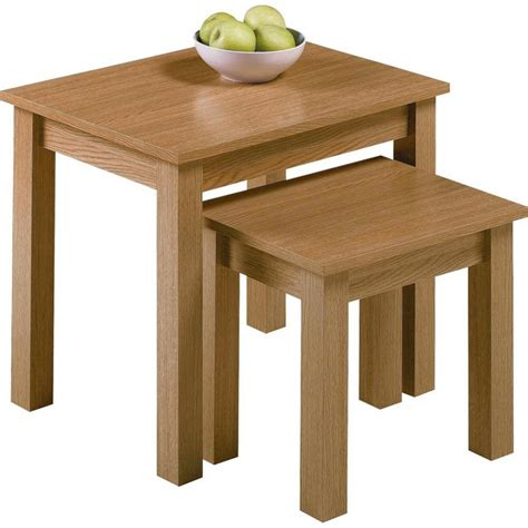 Oak Effect Side Table Buy Home Nest Of 2 Tables Oak Effect At Argos Co Uk Your Shop For Coffee Tables Side