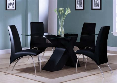 coaster 5 pc kimball collection contemporary style black acme pervis 5pc modern dining room set in black by dining