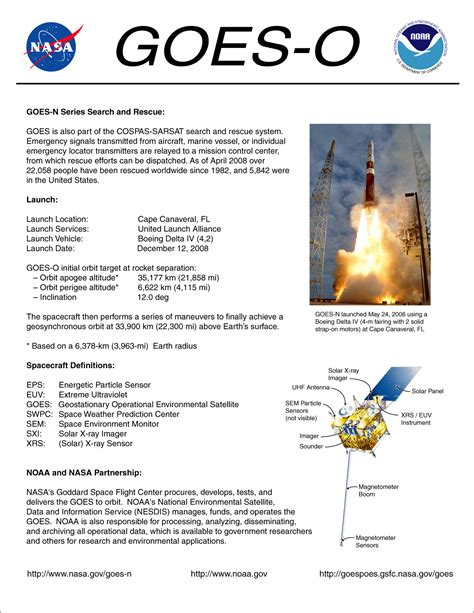 event fact sheet template goes 14 noaa science post launch test plt the specialist