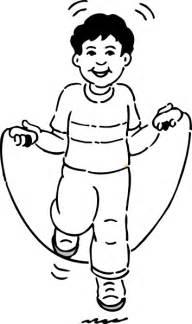 Boy Jumping Rope Clip Art At Clker Com Vector Online sketch template