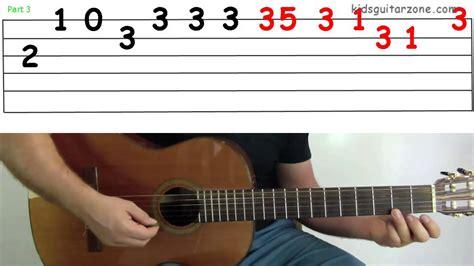 guitar tutorial jingle bells guitar lesson 4j jingle bells verse youtube