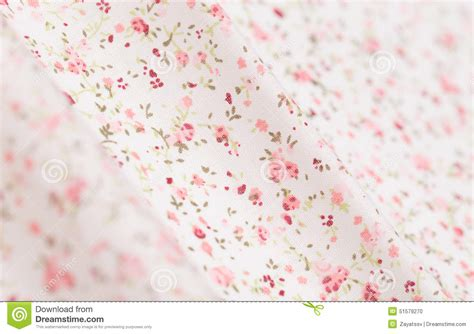 pink pattern cotton fabric white cotton fabric with pink floral pattern stock photo