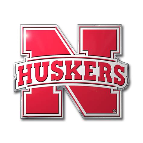 nebraska cornhuskers color emblem car or truck decal