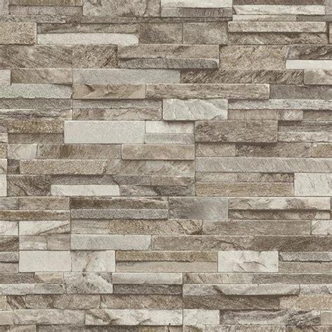 Contemporary Wall Murals Interior p amp s slate brick pattern faux stone effect wallpaper 42106 30
