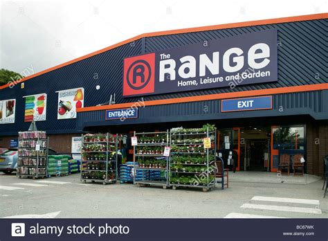 the range quot a discount home and garden store stock photo