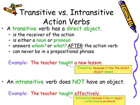 sentence pattern intransitive verb action verbs are either ppt video online download