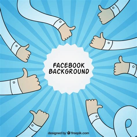 facebook layout vector free facebook background with hand drawn arms vector free
