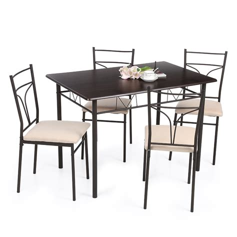ikayaa 5pcs moderne m 233 tal chaises cadre salle 224 manger