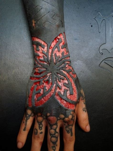 tattoo extreme pain blackwork tattoo and scarification ink pinterest