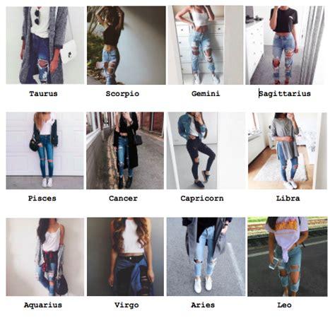 zodiac outfits tumblr