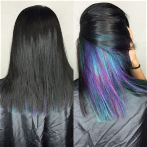 color underneath hairstyles tutorial on how to get mermaid hair everything mermaid