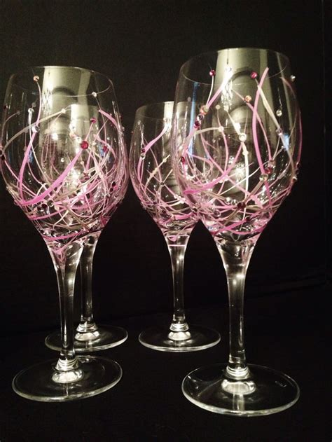 wine glass painting be mine white wine glasses kdallu luxury glassware