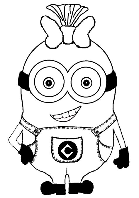 girl minion coloring page the art bug wonderful wednesday make your own minion t