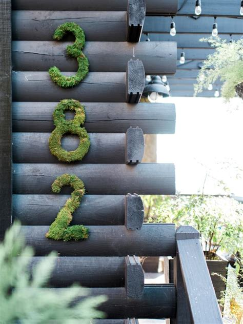 unique  cool ways  display  house numbers