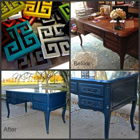 before and after of project completed with howard furniture lacquer paint ncf studio