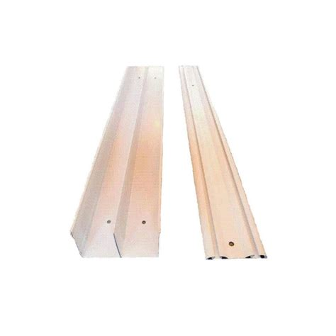 Mirror Closet Door Track Shop Reliabilt 96 In Bi Pass Door Sliding Closet Door Track At Lowes
