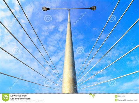 electric street light pole electric street light pole over blue sky stock photo