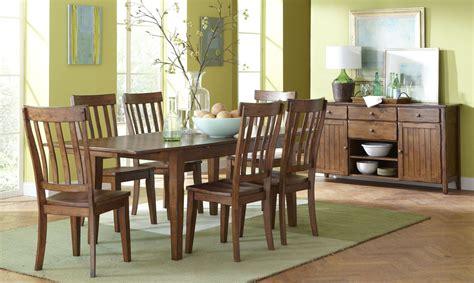 kansas distressed finish rectangular wood dining room overland distressed oak extendable rectangular dining room