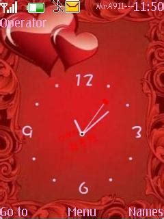 themes new mobile love clock mobile theme