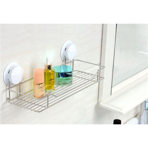 suction shelves bathroom suction bathroom shelf modern plastic stainless steel