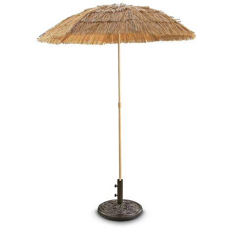 6 patio umbrella castlecreek 6 thatched tiki patio umbrella 220961