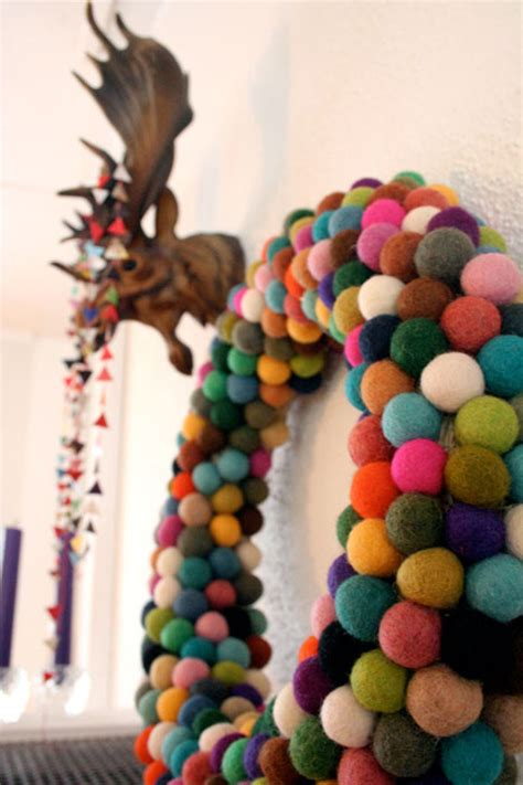 diy colorful christmas wreath the style files