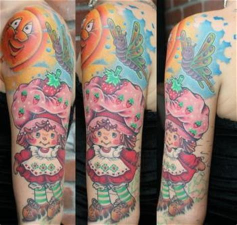 strawberry shortcake tattoo designs strawberry shortcake sleeve in progress picture