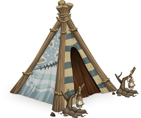 edad de tipi model free vector graphic tipi tent tepee teepee indian