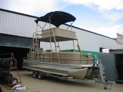 used pontoon boat with upper deck outlaw eagle manufacturing view topic glen freelands