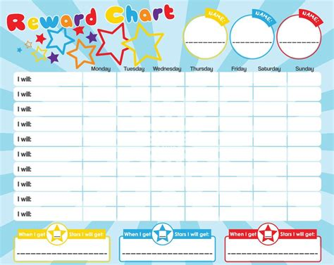 printable reward charts for 3 year olds kids reward chart wipe clean magnetic star stickers
