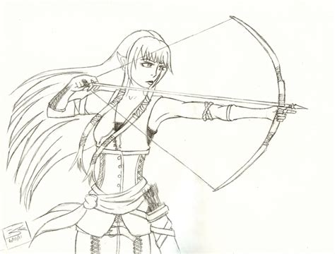 elf archer coloring pages elven archer by kairi loves sushi on deviantart