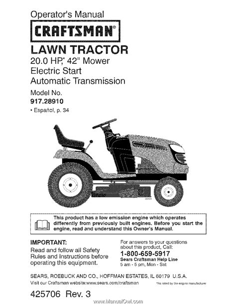 Craftsman Lawn Mower Manual