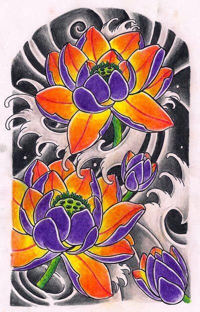 japanese lotus flower tattoo designs lotus sleeve by kirzten on deviantart