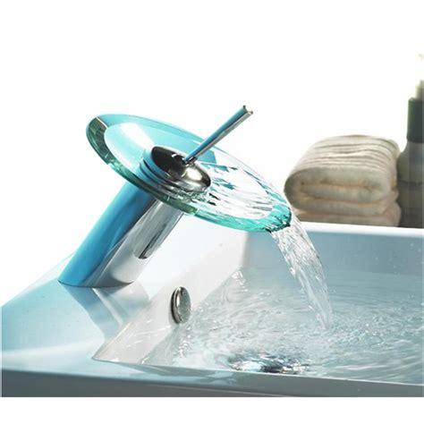 rubinetto cascata rubinetto lavabo miscelatore cascata in vetro bes 17164