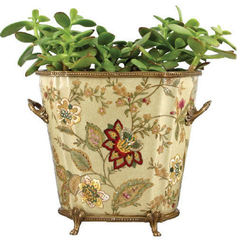 Porcelain Planter by Porcelain Planter With Bronze Ormolu Traditional Indoor Pots And Planters By Shan Hill Design