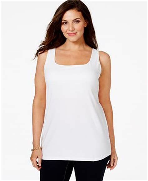 Shelf Bras For Plus Size by Style Co Plus Size Built In Shelf Tank Top Only At
