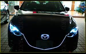 akd car styling led headlight projector for 2014 mazda 3