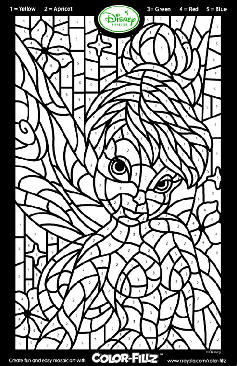 Disney Fairies Tinkerbell Mosaic Coloring Page Crayola Com Mosaic Colouring Pages