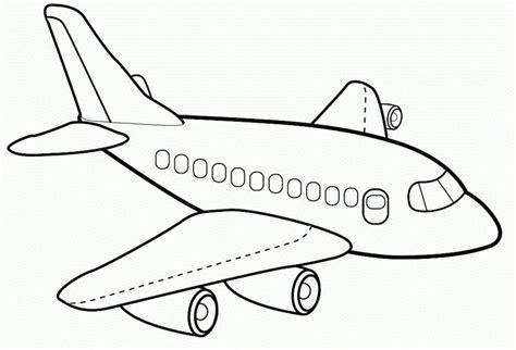 mewarnai gambar pesawat  paud gambarkakak